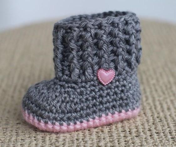 kalpli gri pembe bebek patiği