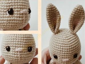 kulak ve burun - Amigurumi Küçük Tavşan Tarifi