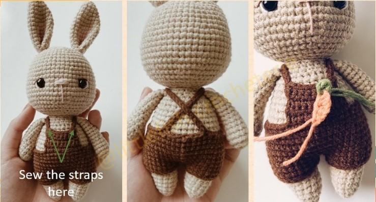 yelek - Amigurumi Küçük Tavşan Tarifi
