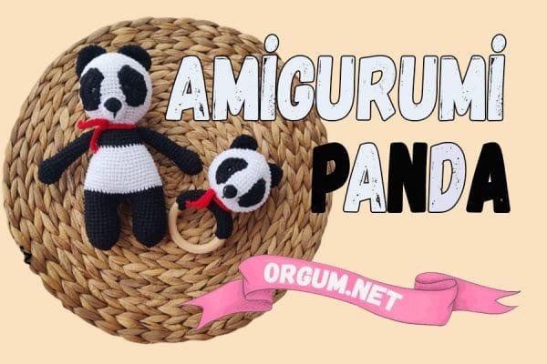 amigurumi panda tarifi ve panda seti