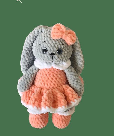 kadife ip ile yapılmış amigurumi tavşan tarifi
