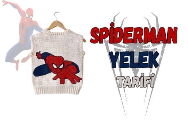 spiderman yelek tarifi