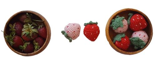 Amigurumi çilek tarifi ile sizde yaz meyvesi yapın
