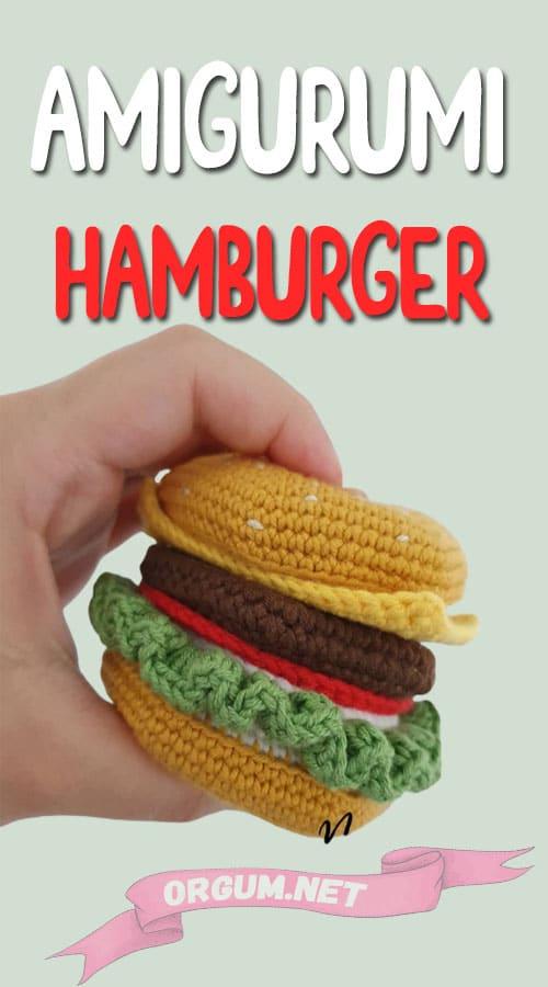 Amigurumi hamburger yapılışı